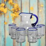 Jarra y vasos Orilla Azul